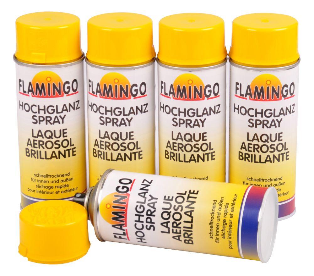 5x Kunstharz Lackspray Rapsgelb RAL 1021 glänzend 400ml Farbspray Sprühdose gelb – Bild 1