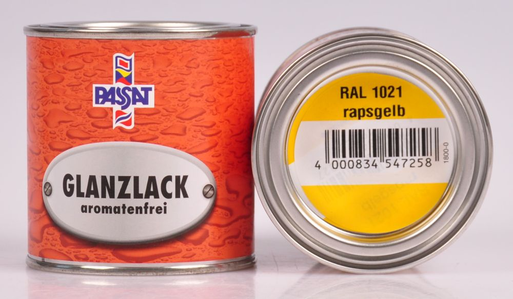 Passat Lack 250ml versch. RAL matt glänzend Holzfarbe Metallschutz Grundierung – Bild 4