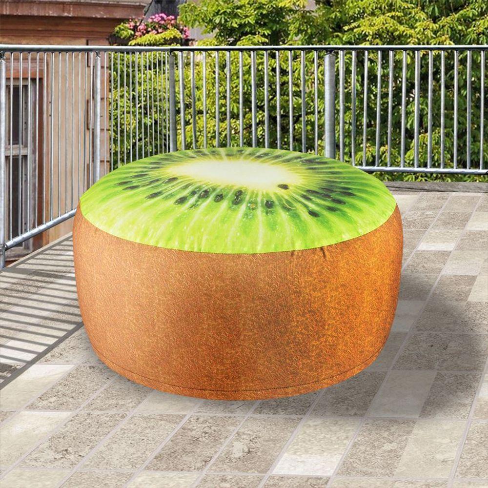 Outdoor Sitzkissen 55cm Luftsitz Luftkissen Hocker Pouf Obst Melone Kiwi Orange – Bild 4