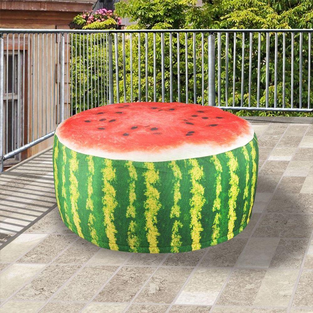 Outdoor Sitzkissen 55cm Luftsitz Luftkissen Hocker Pouf Obst Melone Kiwi Orange – Bild 2