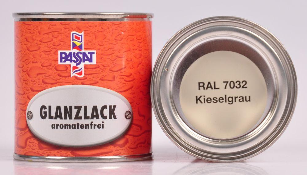 Passat Lack 3x 250ml RAL 7032 kieselgrau glänzend Holzfarbe Glanzlack Decklack – Bild 2