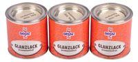 Passat Lack 3x 250ml RAL 7032 kieselgrau glänzend Holzfarbe Glanzlack Decklack 001