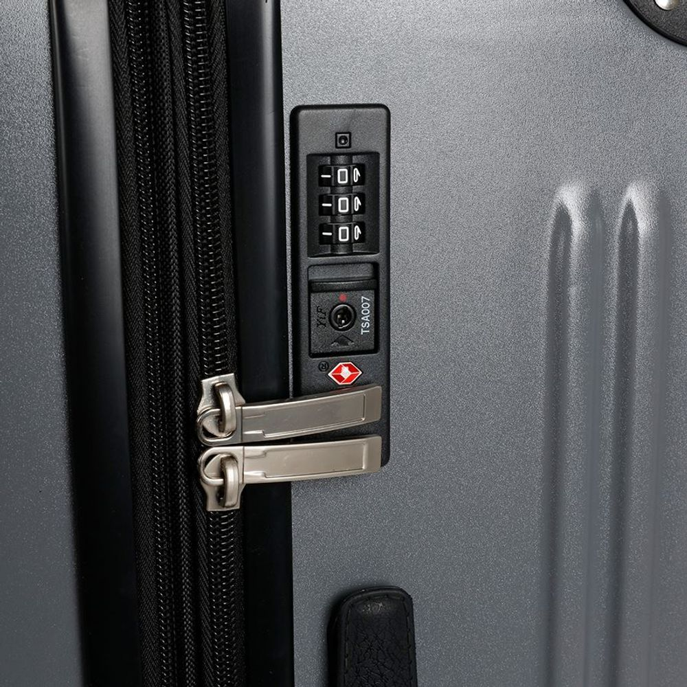Hartschalen-Reisekoffer-Set grau Hartschalenkoffer Trolley Koffer Reisetasche – Bild 5