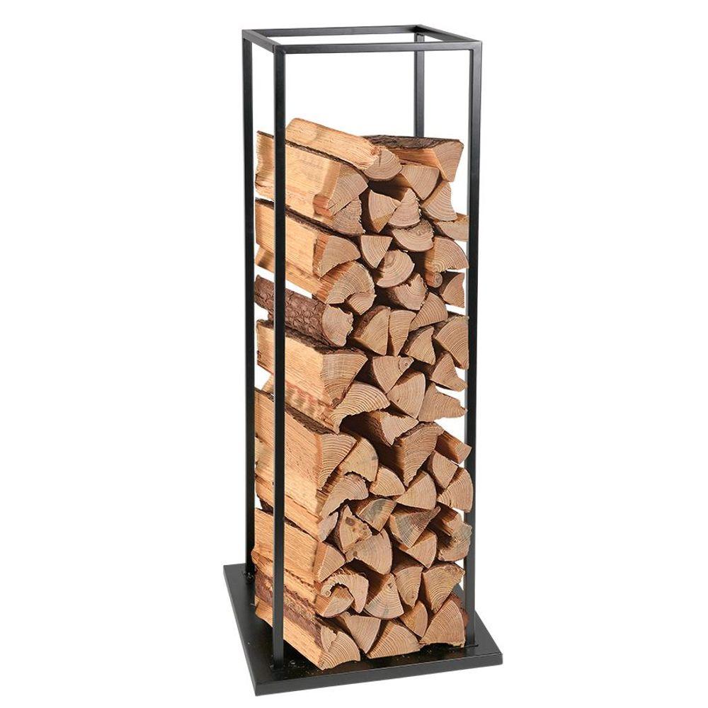 Kaminholzständer aus Stahl schwarz Kaminholzregal Brennholzregal Holzständer  – Bild 2