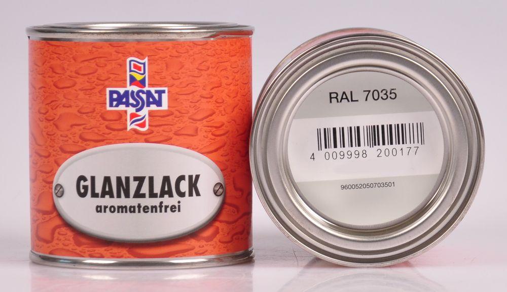 Passat Lack 750 ml RAL 7035 lichtgrau glänzend Metall Holz Glanzlack Decklack – Bild 2