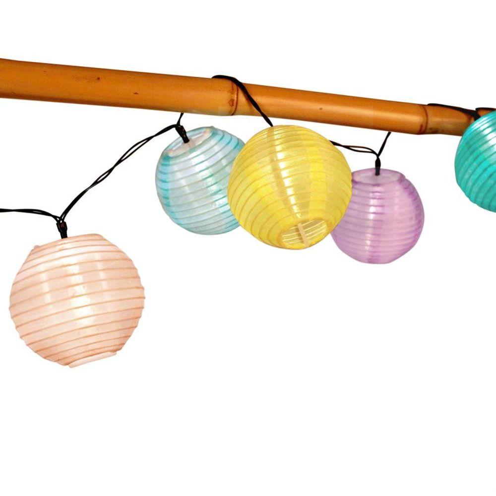 Solar-Lampion-Lichterkette 10 LED Partybeleuchtung Dekolicht Gartendeko warmweiß – Bild 2