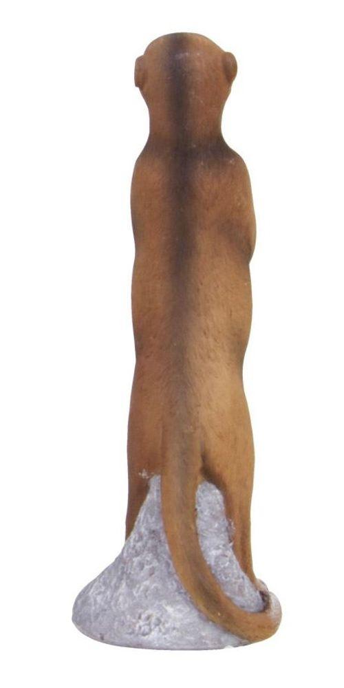 Erdmännchen 30cm stehend Dekofigur Tierfigur Surikat Gartenfigur Gartendeko  – Bild 2