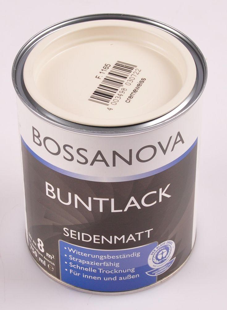 Acryl Buntlack 3x 0,75 L cremeweiss matt Metall Holz Lack Mattlack Decklack – Bild 2