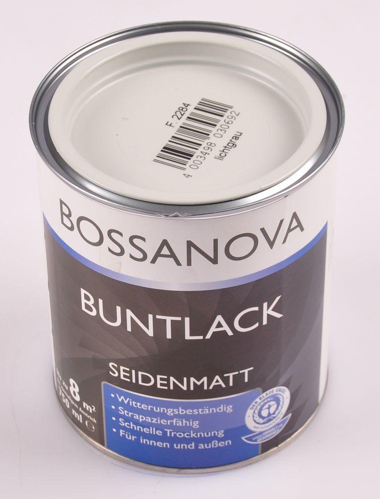 Acryl Buntlack 3x 0,75 L lichtgrau matt Metall Holz Lack Mattlack Decklack grau – Bild 2