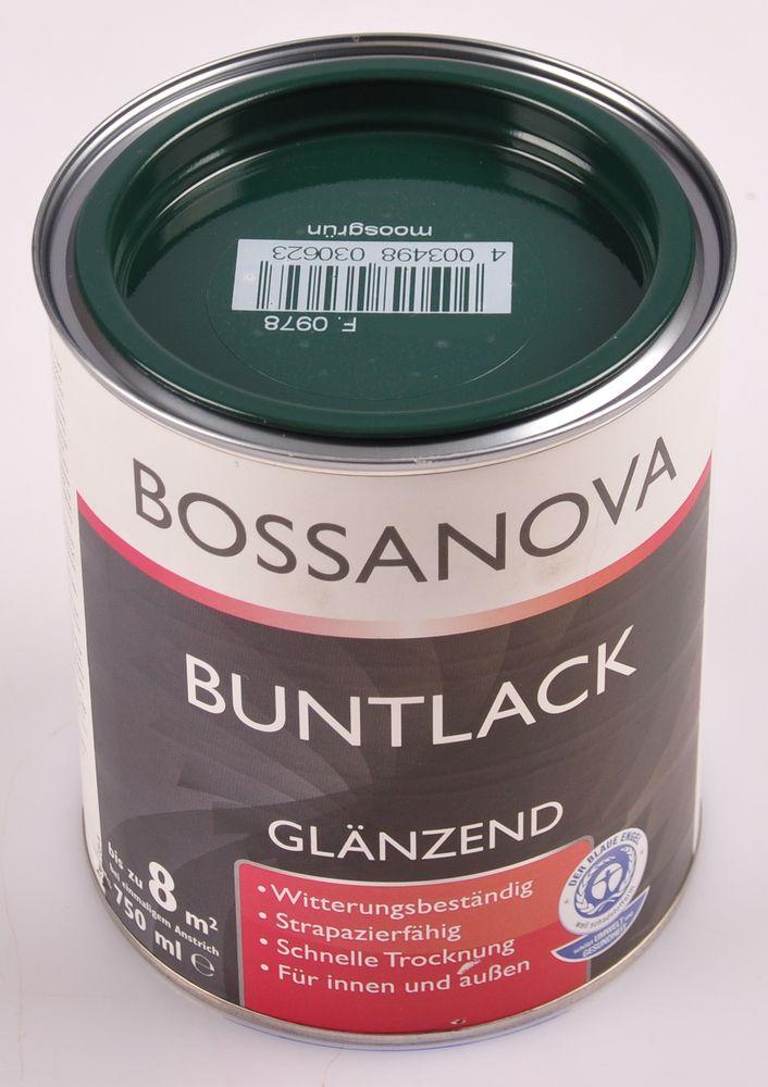 Acryl Buntlack 3x 0,75 L moosgrün glänzend Metall Holz Lack Glanzlack Decklack – Bild 2