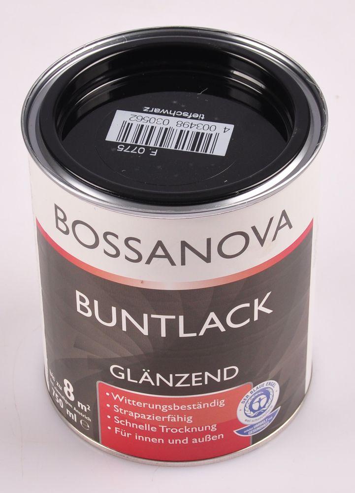 Acryl Buntlack 3x 0,75L tiefschwarz glänzend Metall Holz Lack Glanzlack Decklack – Bild 2