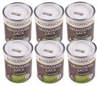 Acryl Heizkörperlack 6x 0,75 L glänzend weiß Heizkörper Decklack hitzebeständig 001