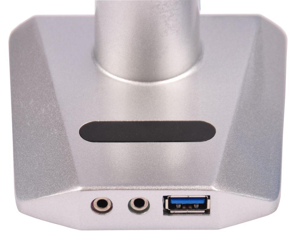 Isel® Alu Monitor Tisch Halterung  bis 20 Kg / 42 Zoll inkl USB Port Schwenkarm – Bild 2