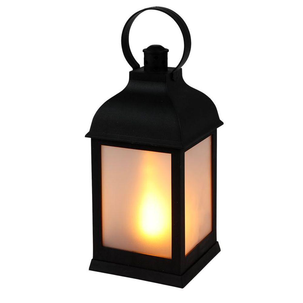 LED Deko-Laterne Flackereffekt warmweiß Lampe Leuchte Weihnachtsdeko Milchglas – Bild 1