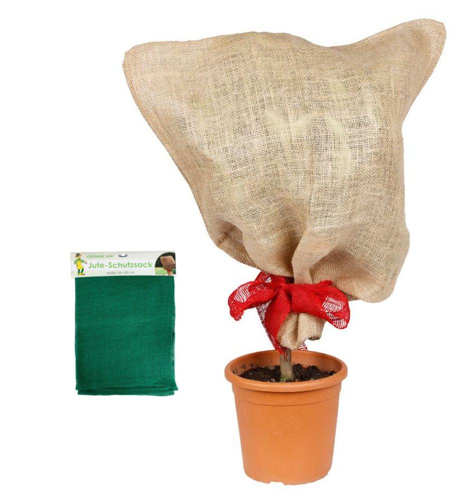 Jutesack grün Pflanzen-Schutzsack Winterschutz Pflanzenschutz Frostschutz 57x78 – Bild 1