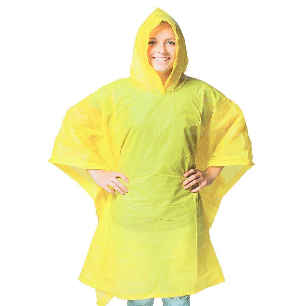 Regenponcho für Erwachsene 100x130cm Regencape Regenschutz Regenmantel Poncho – Bild 6