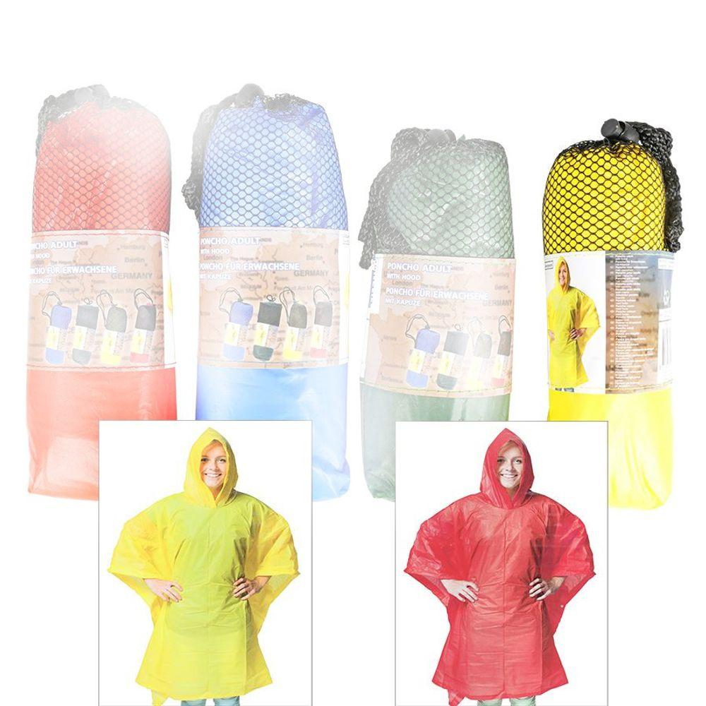 Regenponcho für Erwachsene 100x130cm Regencape Regenschutz Regenmantel Poncho – Bild 3