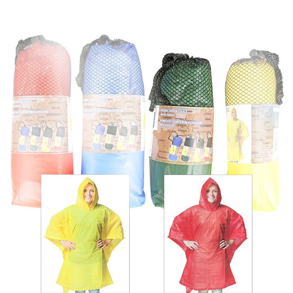 Regenponcho für Erwachsene 100x130cm Regencape Regenschutz Regenmantel Poncho – Bild 4