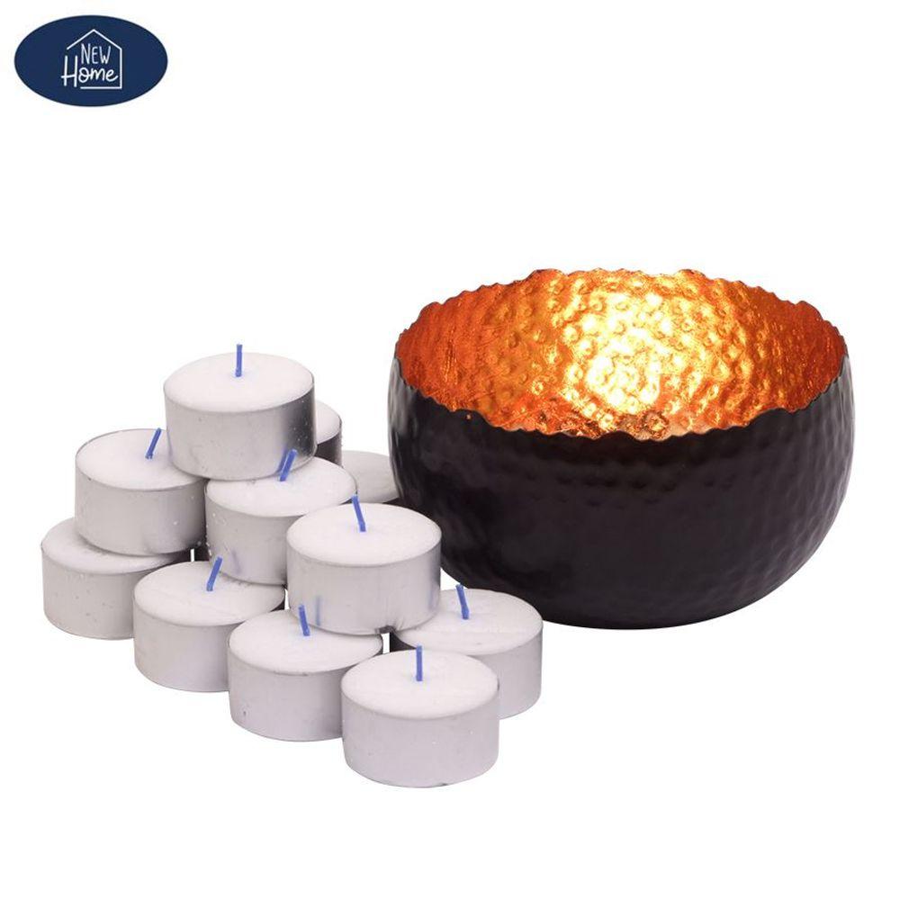 Teelichthalter Noir Kerzenständer Kerzenhalter Kerzenleuchter Tischleuchter Deko – Bild 1