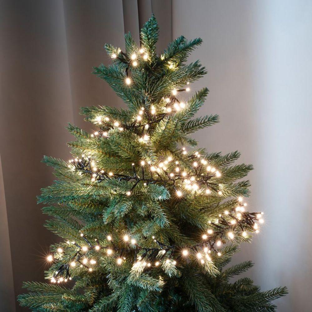 LED Cluster-Lichterkette 5m Büschellichterkette Weihnachtsbeleuchtung 360 LEDs – Bild 1
