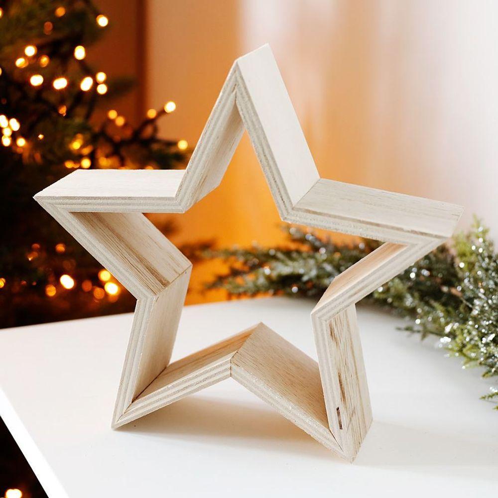 Deko-Stern Weihnachtsstern Adventsstern Weihnachtsdeko Tischdeko Fensterdeko  – Bild 1
