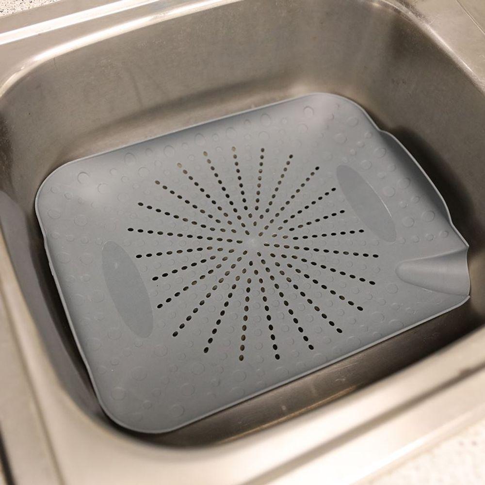 Spülbecken Abtropfsieb 33x26,5cm Küchensieb Seiher Sieb Schale Kunststoff Küche – Bild 3