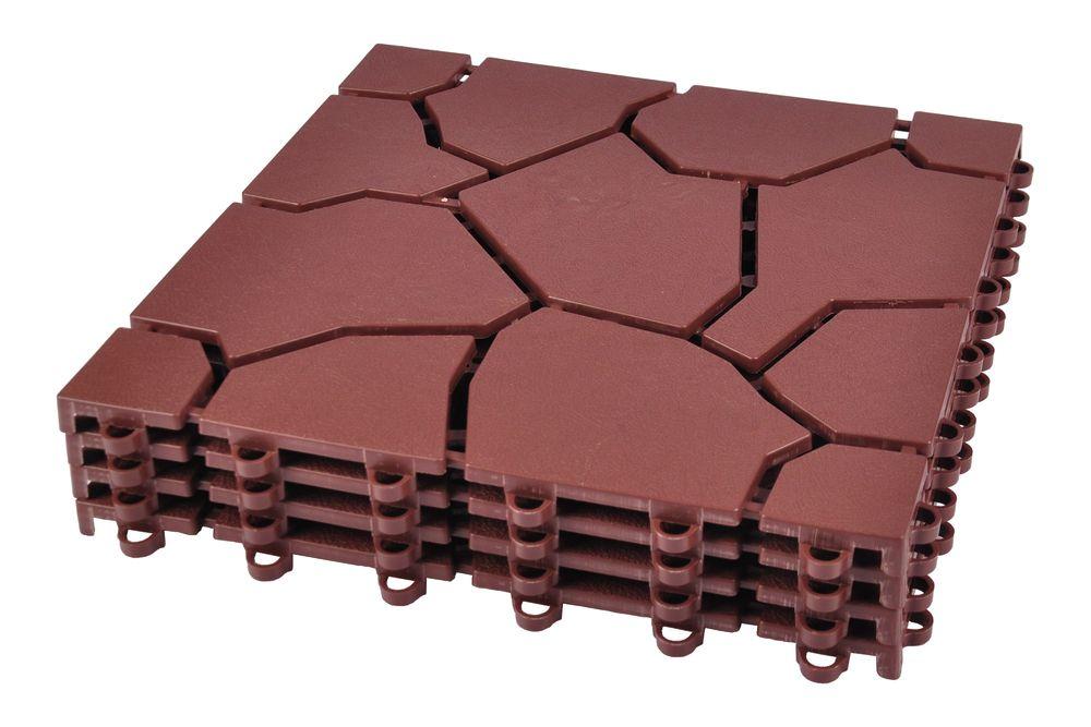 Bodenplatten 4er-Set Beetplatten Gehwegplatten Rasenplatten Gartenweg Platten – Bild 2