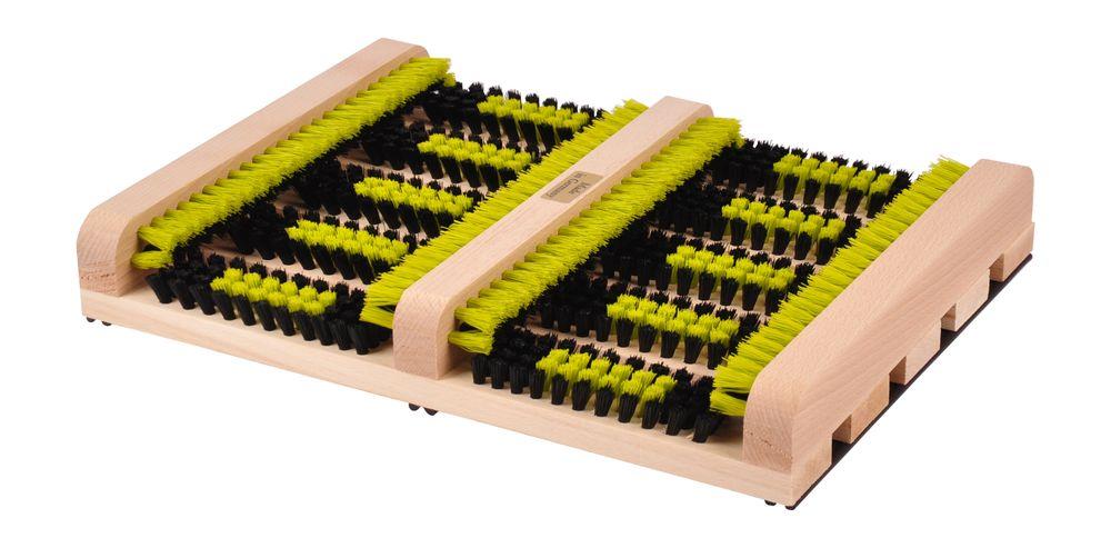 Holz Fußabtreter 36x27x5,3cm Schuhabtreter Schuhbürste Schuh Abstreifbürste  – Bild 4