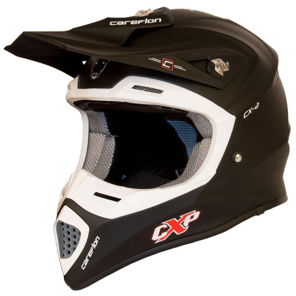 CX-2 Careflon Crosshelm Fiberglass MX Enduro Helm Motorradhelm Gr.54-64 – Bild 3