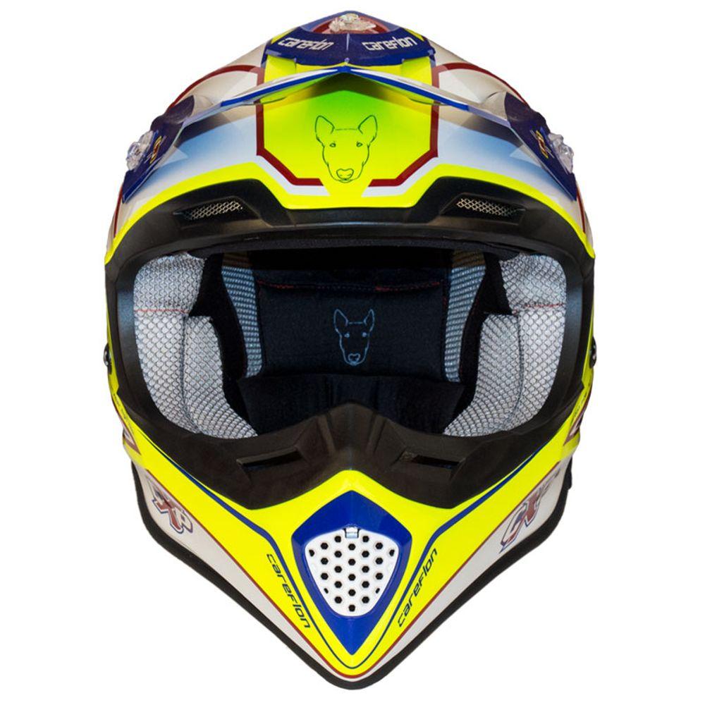 CX-2 Careflon Crosshelm Fiberglass MX Enduro Helm Motorradhelm Gr.54-64 – Bild 16