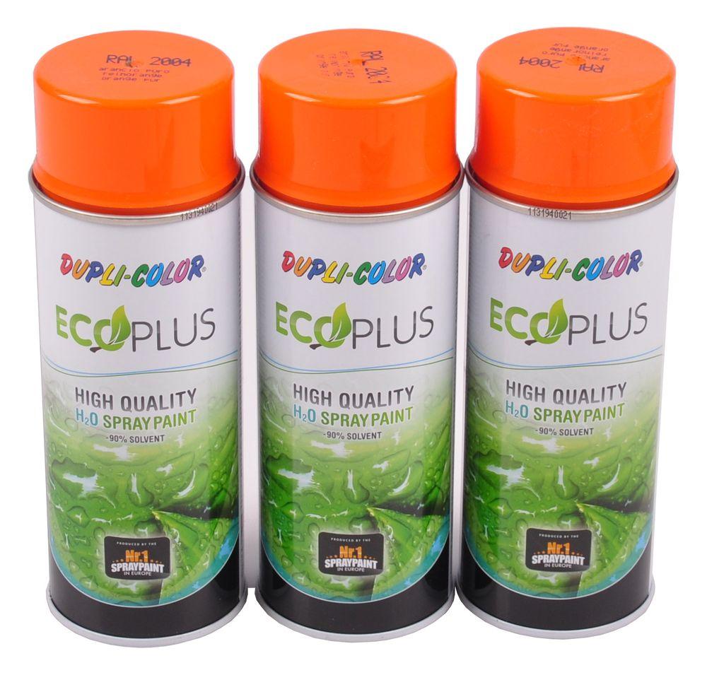 3x 400ml Dupli Color ECOPLUS Lackspray reinorange Farbspray Sprühlack Sprühdose – Bild 1