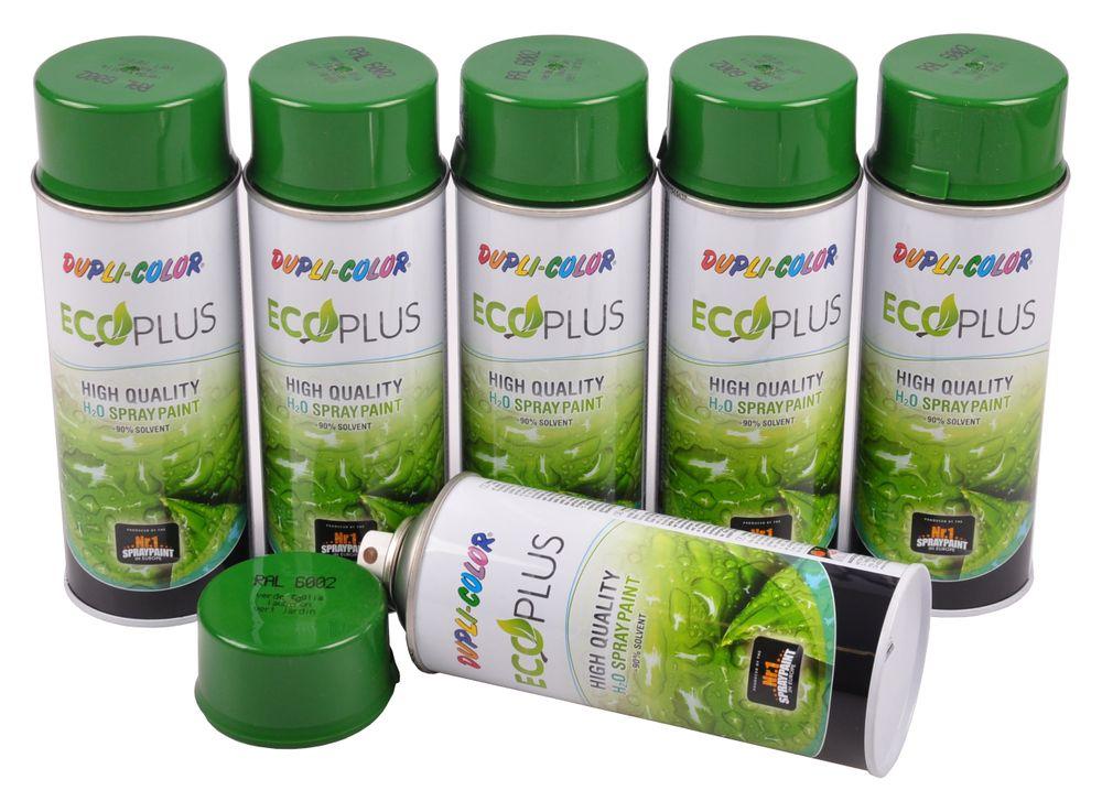 6x Dupli Color ECOPLUS Lackspray laubgrün auf Wasserbasis Sprühlack Sprühdose – Bild 1