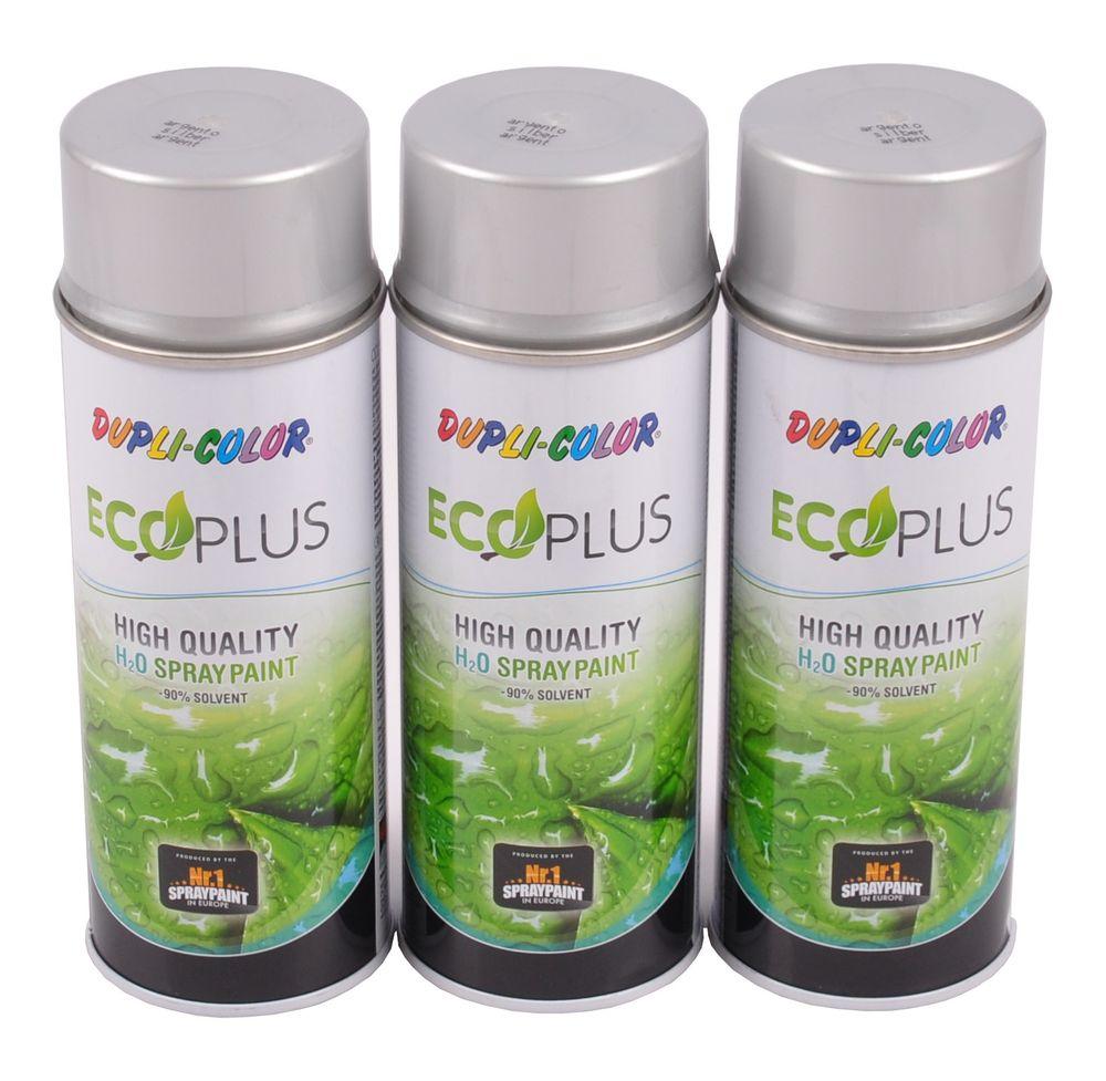 3x 400ml Dupli Color ECOPLUS Lackspray silber Farbspray Sprühlack Sprühdose – Bild 1