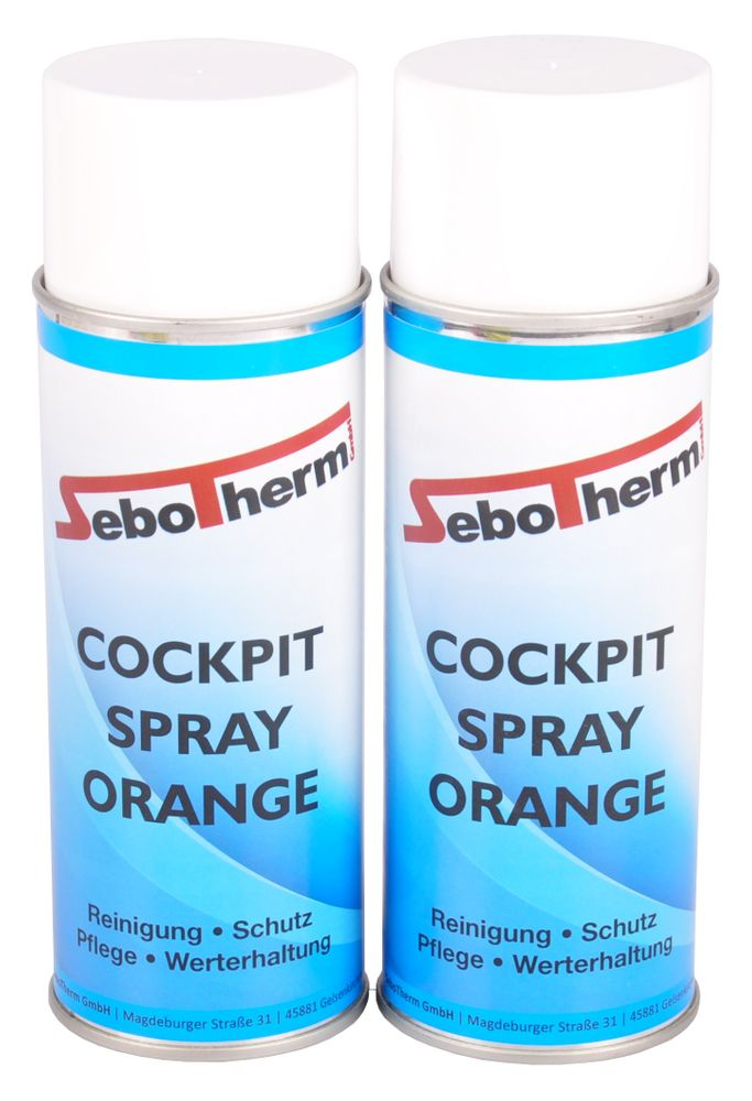 2x 400ml Cockpitspray Orange Cockpitpflege Cockpit Reiniger Spray antistatisch – Bild 1