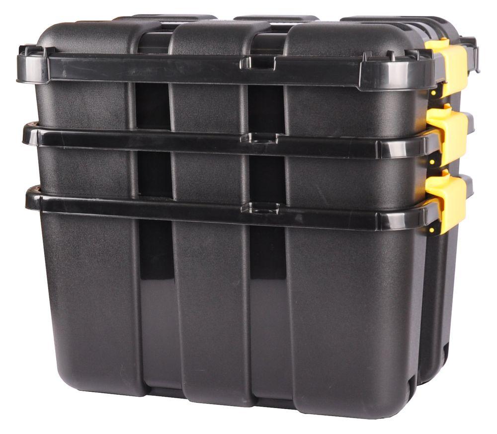 2x Werkstatt Box + Rollen 50 Liter Rollenbox Stapelbox Lagerbox Aufbewahrungsbox – Bild 6