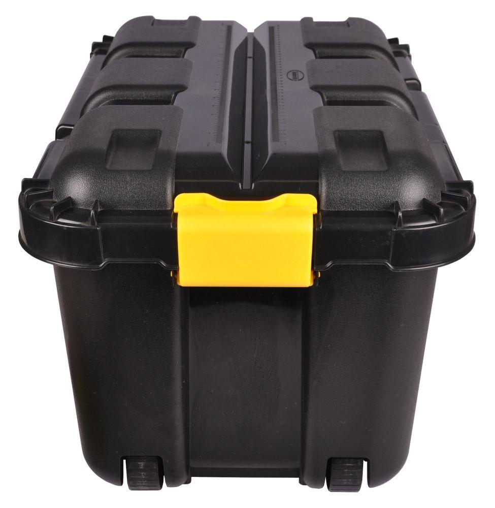 4er Werkstatt Box mit Rollen 50 L Rollenbox Stapelbox Lagerbox Aufbewahrungsbox – Bild 3