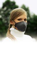 Kältemaske grau waschbar Atem Mund Staub Kälte Schmutz wiederverwendbar 3-lagig 001