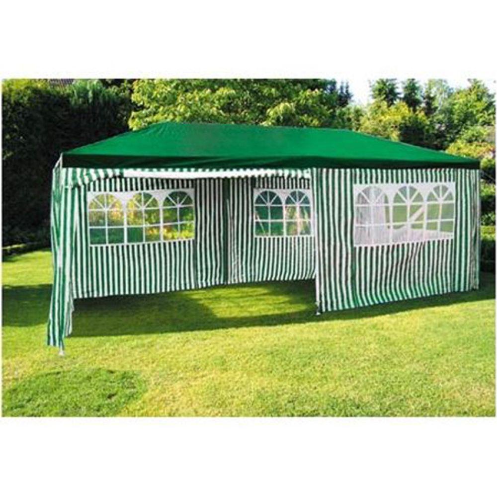 Party-Pavillon 6x3m Grün-Weiß Gartenpavillon Festzelt Partyzelt Zelt Bierzelt