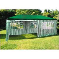 Party-Pavillon 6x3m Grün-Weiß Gartenpavillon Festzelt Partyzelt Zelt Bierzelt  001