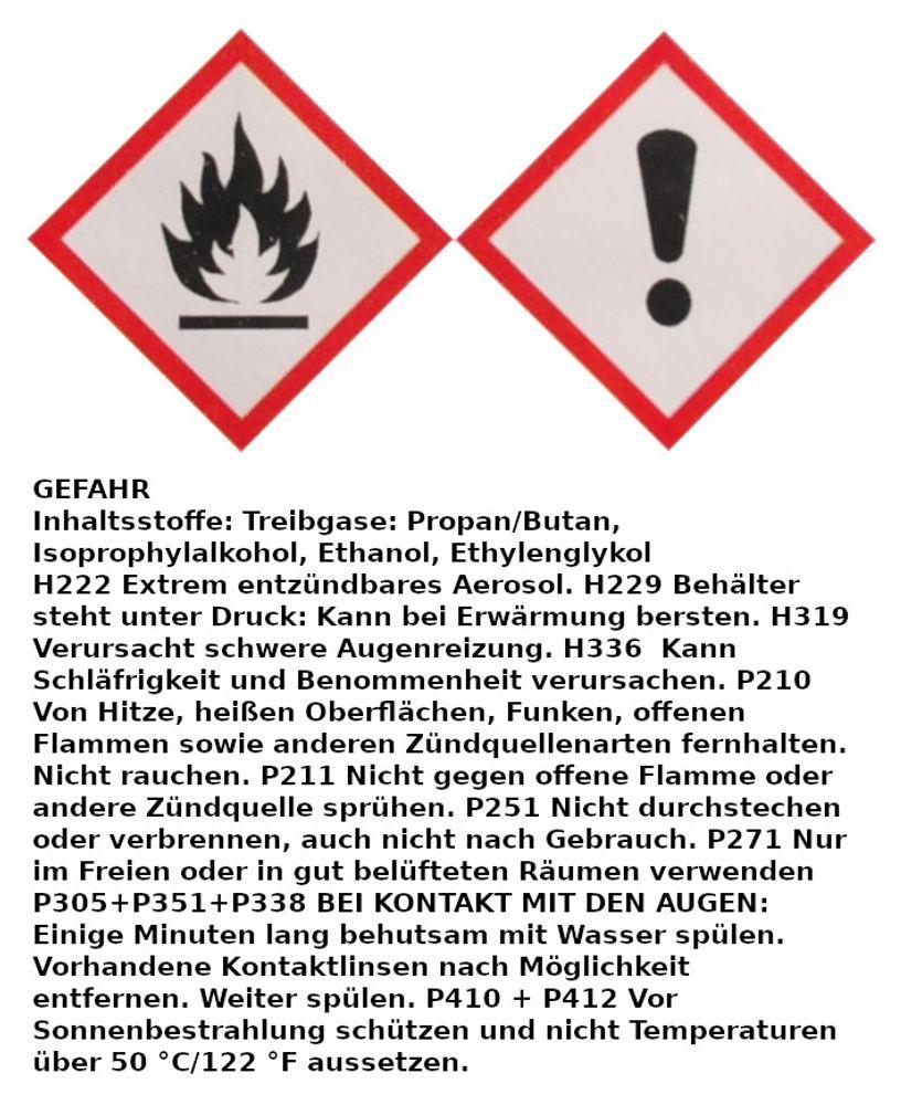 12x 400ml Kfz Enteiserspray Scheibenenteiser -40°C Schnell Enteisung Frost Auto  – Bild 2