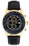 Burgmeister Armbanduhr für Herren mit Analog-Anzeige, Chronograph und Lederarmband - Wasserdichte Herrenarmbanduhr mit zeitlosem, schickem Design - klassische Uhr für Männer - BM320-222 Savannah
