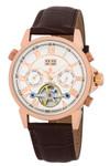 Burgmeister Armbanduhr für Herren mit Analog Anzeige, Automatik-Uhr und Lederarmband - Wasserdichte Herrenuhr mit zeitlosem, schickem Design - klassische Uhr für Männer - BM118-315 California