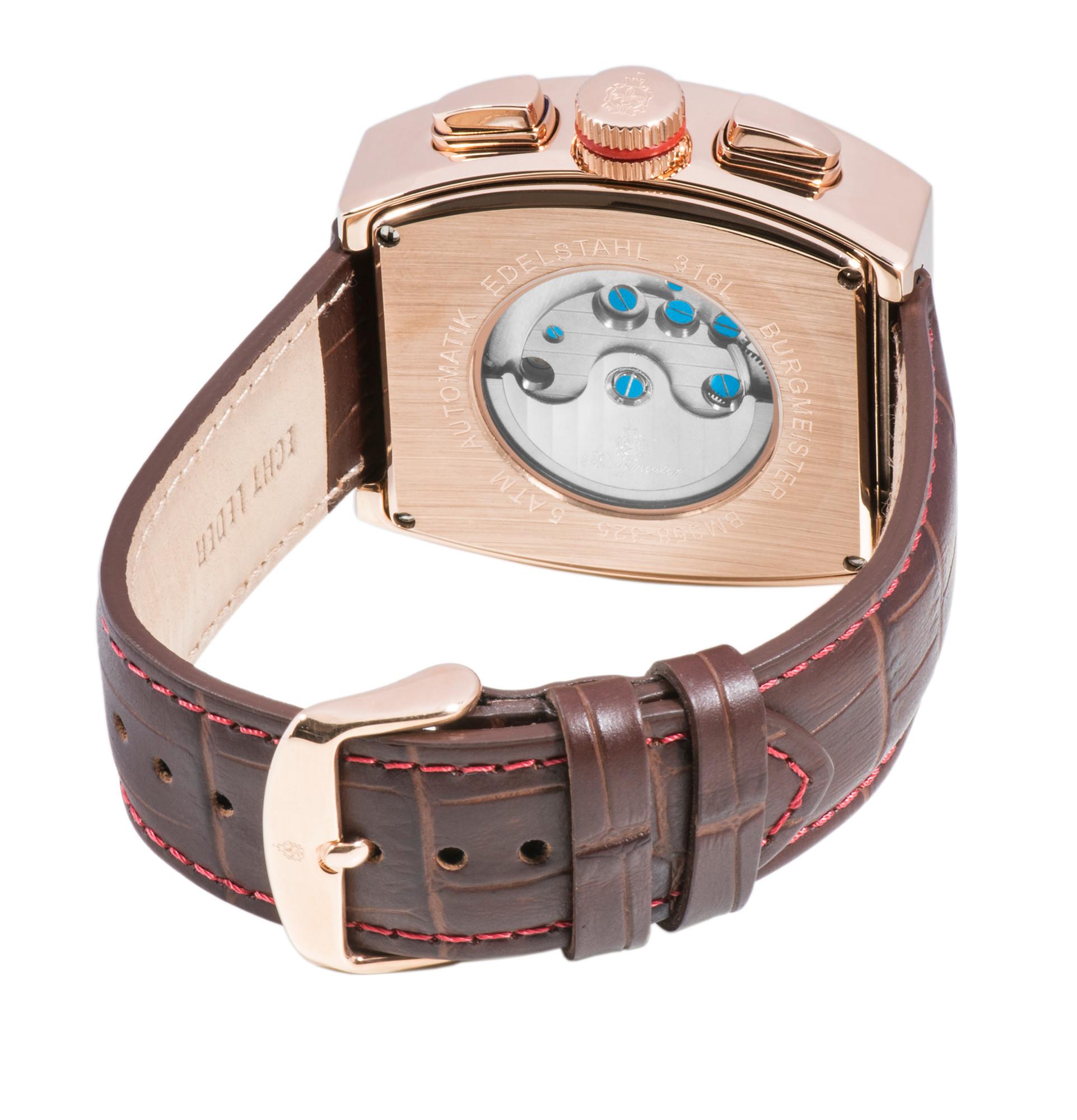 Für Uhr Analog Mit Herren Armbanduhr AnzeigeAutomatik Burgmeister qcL54S3ARj