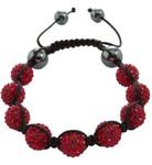 Burgmeister Armband JBM1149-598, rote Kristalle