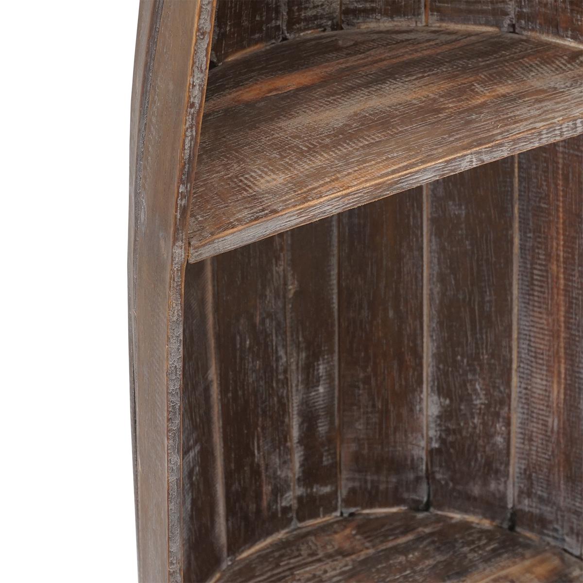 Bootsregal Holzregal Standregal maritim Bücherregal Badezimmerregal braun Albesia Holz – Bild 4