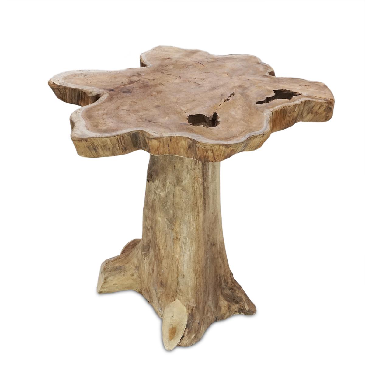 Teakholz beistelltisch  Teakholz Beistelltisch Ablagetisch Unikat Möbel cm Tisch ...
