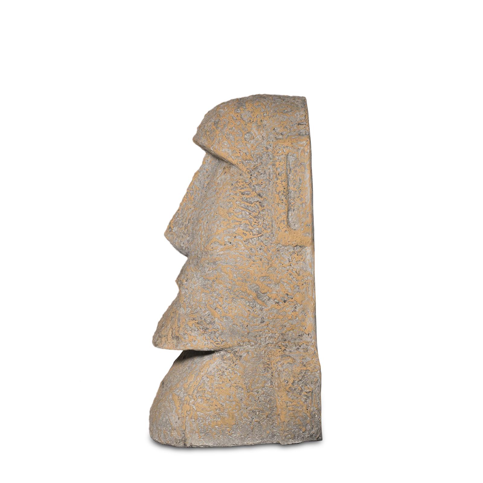 Moai Rapa-Nui Statue ca. 40 cm Osterinsel-Figur Garten Dekoration Sandstein – Bild 3