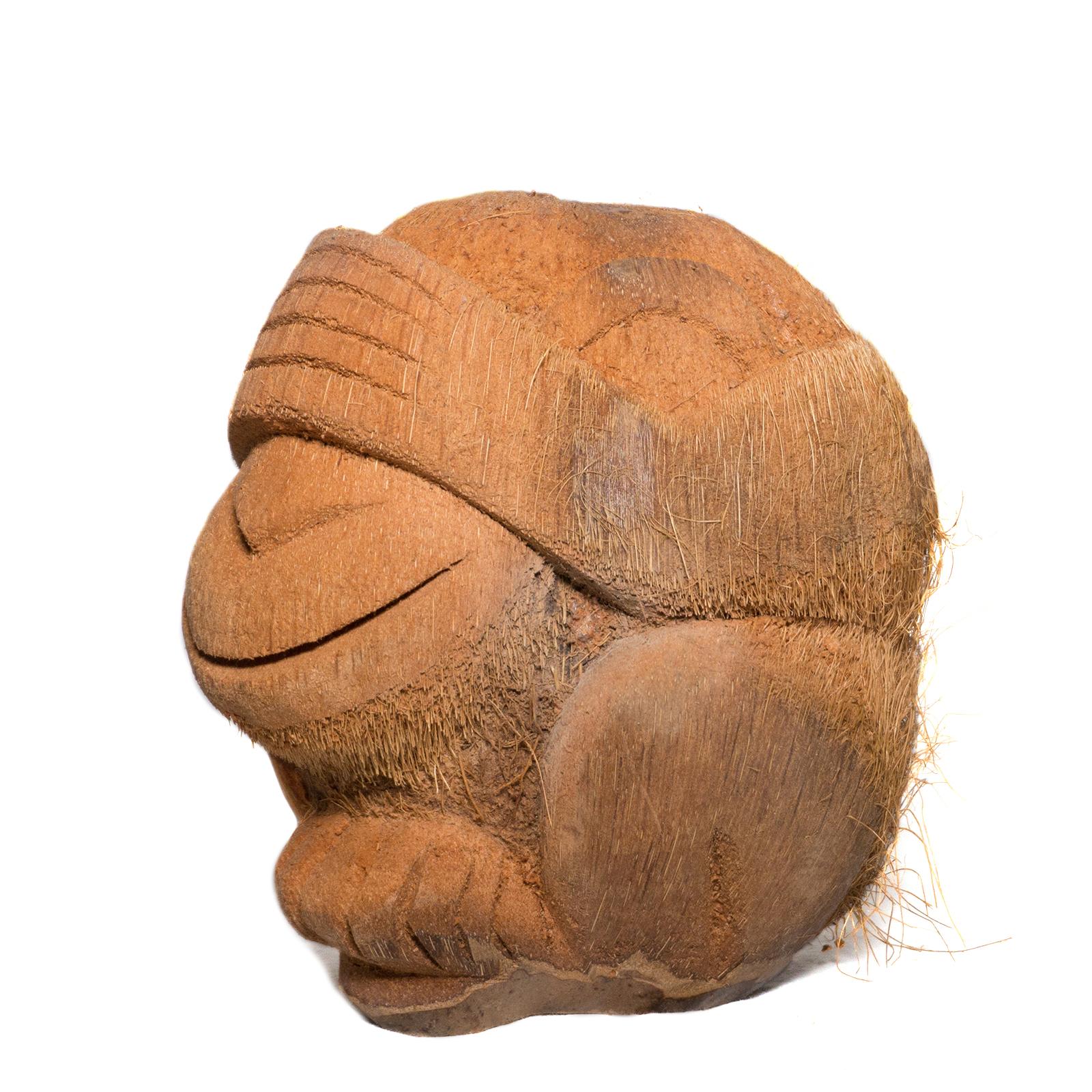 Sehe Nichts Affe Figur aus Kokosnuss ca. 18cm Skulptur – Bild 2
