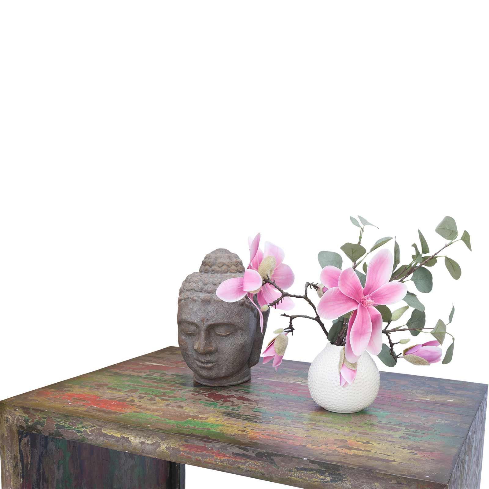 Couchtisch 80cm x 60cm x 45cm Wohnzimmer Holztisch Holzmöbel Vintage Holz bunt – Bild 2