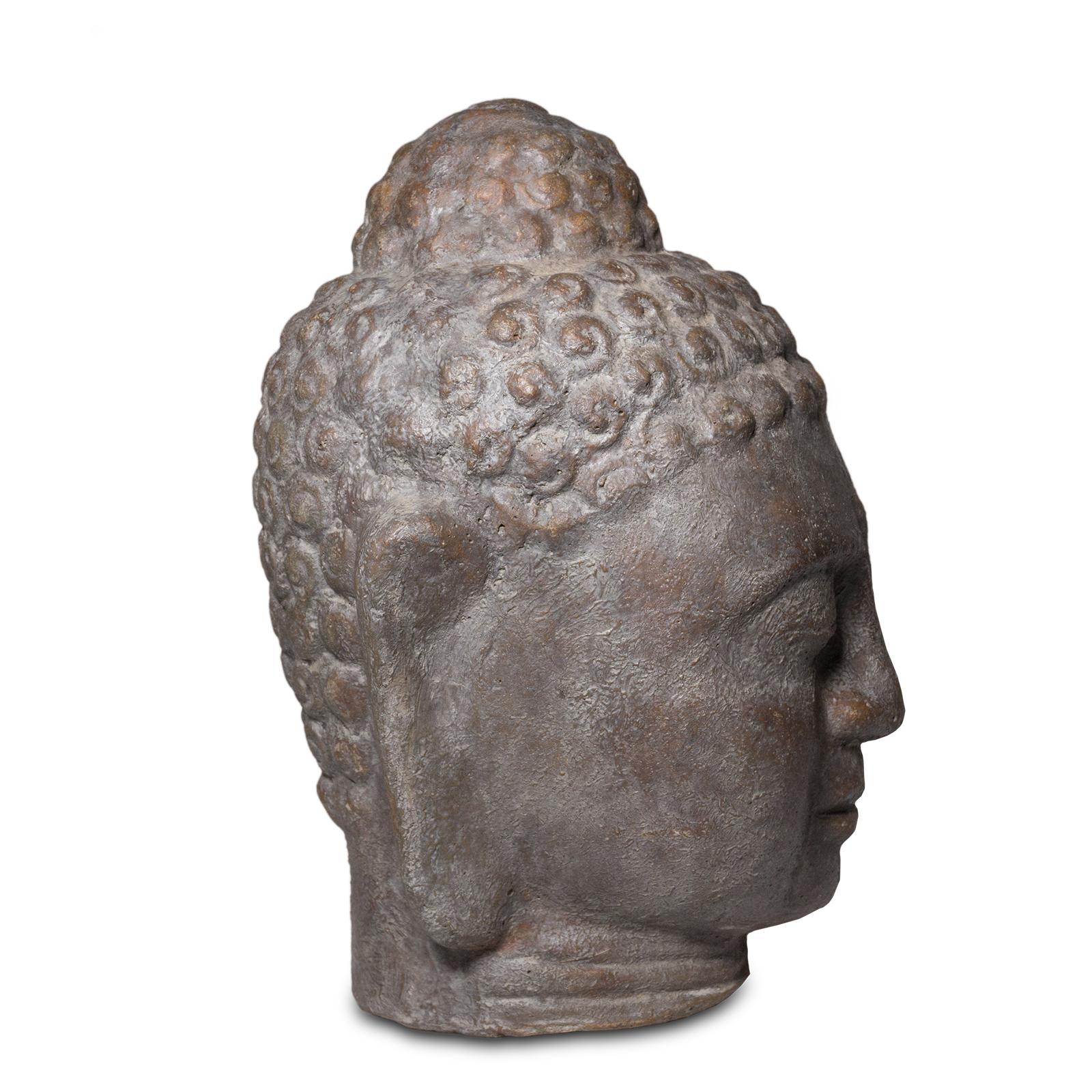 Buddha Kopf 28cm Skulptur Statue Steinfigur Deko Steingemisch - Für Innen- und Außenbereich – Bild 4